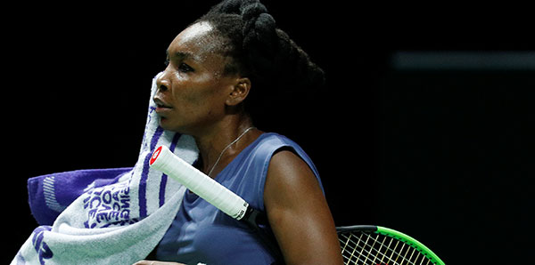 WTA'da Venus Williams'a darbe